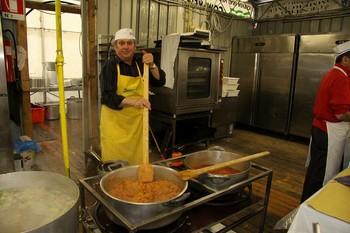 Pentolone con risotto alla marinara