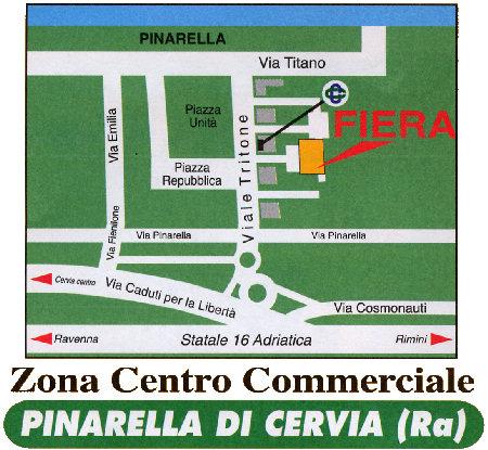 Mappa di Pinarella